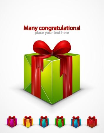 fita: Realistic gift box icon