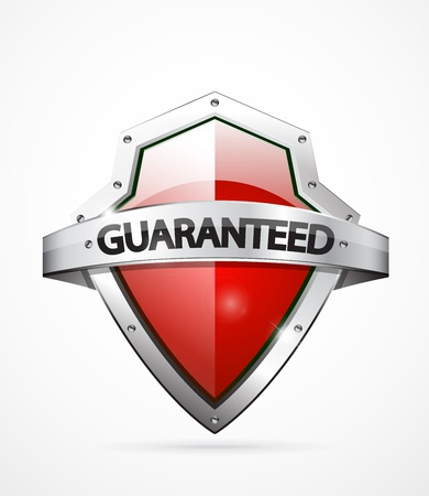 insignias: Vector guarantee shield