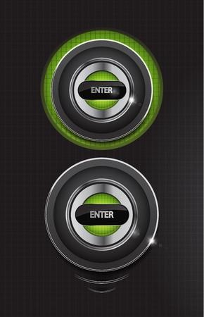 Hi-tech enter round buttons Stock Vector - 11224802