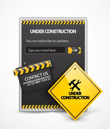 construction icon:  under construction background