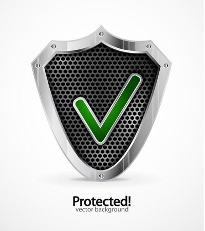 safety check: Icono protegido Vectores