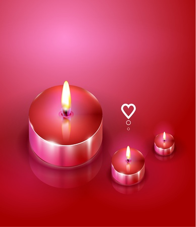 Aroma candles. Romantic background Vector