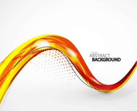 orange swirl: Abstract background Illustration