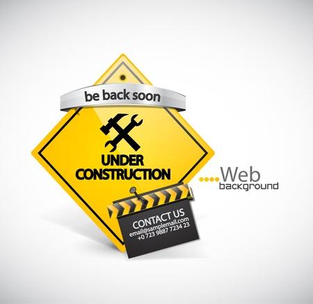 white website: Under construction background