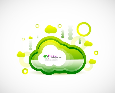 Techno cloud Vector