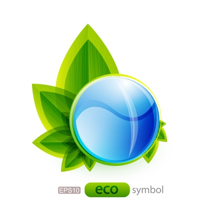 Vector eco nature concept photo