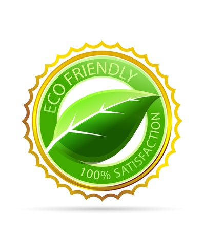 Gold eco friendly tag Vector