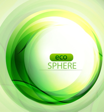 Eco-friendly sphere background Vector
