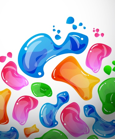 jelly: Vector abstract colorful background Illustration