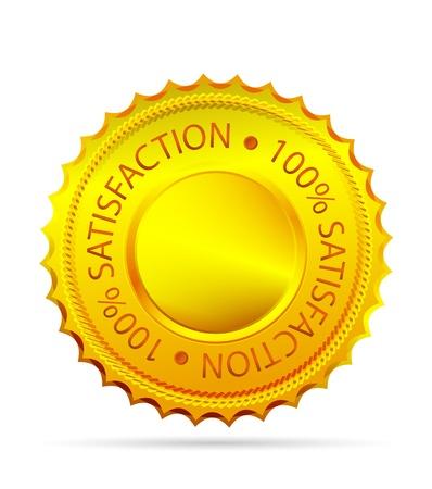 guarantee seal: Etiqueta de la satisfacci�n Golded