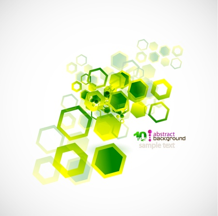 square detail: Abstract shapes vector background