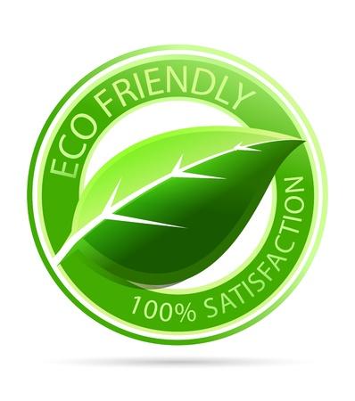 conviviale: Vector green eco �tiquettes amicales