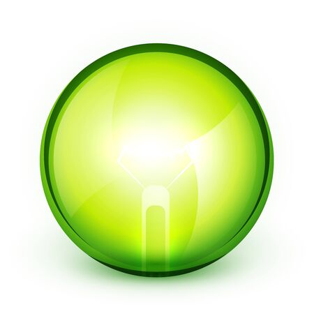 Green light bublb energy saving concept Vector