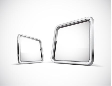 sleek: Metal plate with copy space