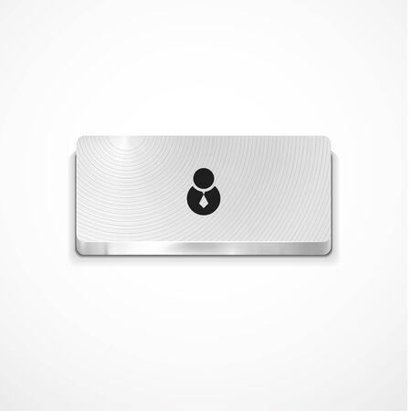 Vector user button Stock Vector - 11900257