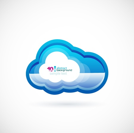 virtualization: Blue technology cloud Stock Photo