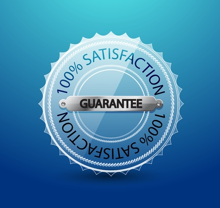 Vector transparent glass guarantee label Vector