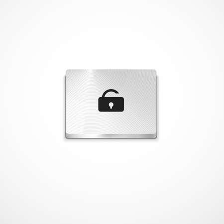Vector secure button Stock Photo - 11931471