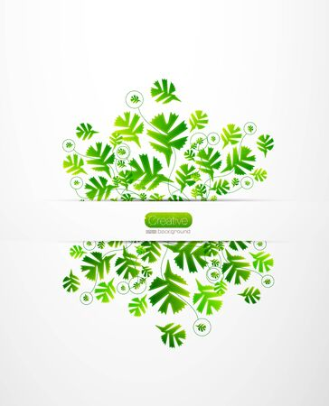Vector nature leaves background Stock Photo - 11931470
