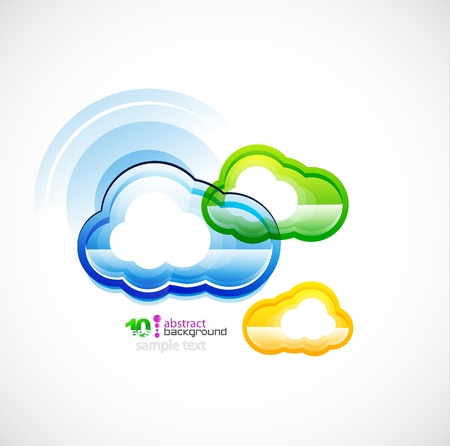 accessing: Blue technology cloud Illustration