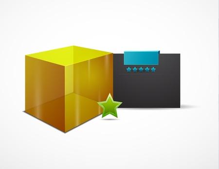 Vector web box design template Stock Vector - 11931436