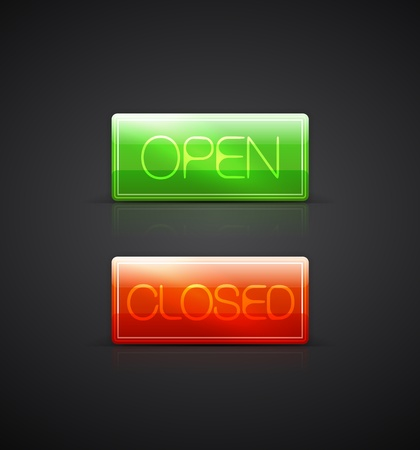 Open close glass plates Vector
