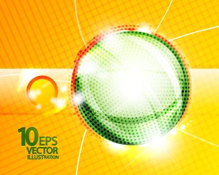 hitech: Hi-tech shiny techno bubble background Illustration