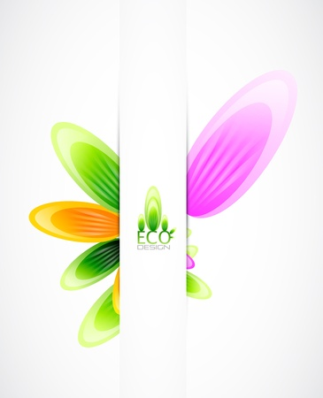 pamphlet: Abstract flowers background