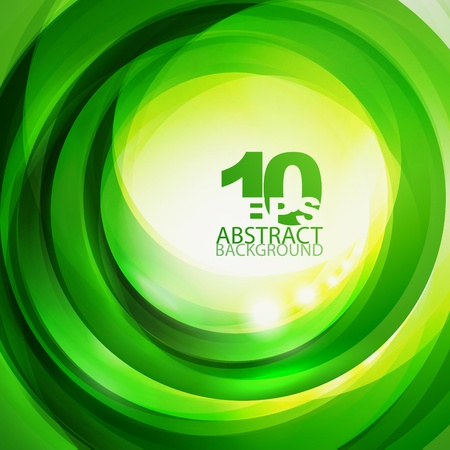 Green bright swirl background Stock Vector - 12491391