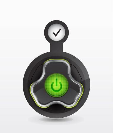 button - icon Stock Vector - 12490869