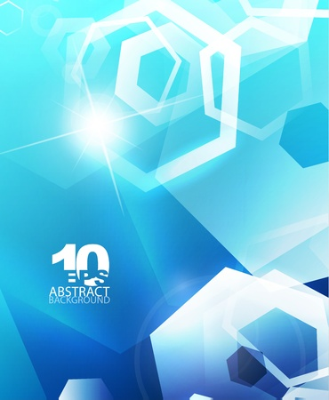 Hexagon hi-tech abstract background Vector