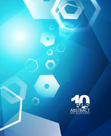 Hexagon hi-tech abstract background Stock Vector - 12490867