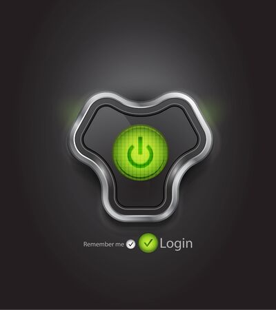 futuristic login page Stock Vector - 12491080