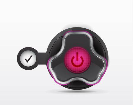 power button - icon Stock Vector - 12490876