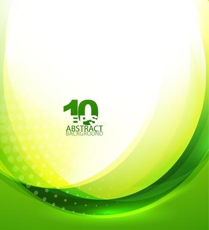 녹색 물결 템플릿