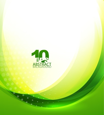 digital background: Green wave template