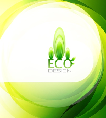 Eco-friendly abstract nature background Vector