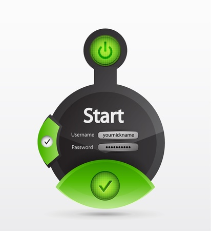 creative login form Vector