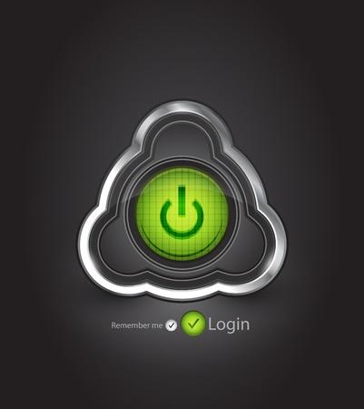 Futuristic power button Stock Vector - 12492355