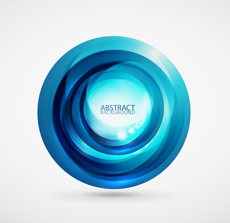 blue spiral: Abstract background Illustration