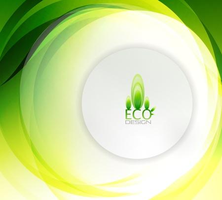Eco swirly Welle abstrakten Hintergrund Vektorgrafik