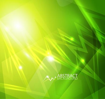 Green lightning Vector