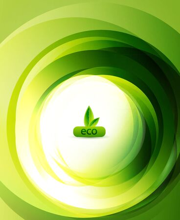 digitally generated image: Green eco abstract background