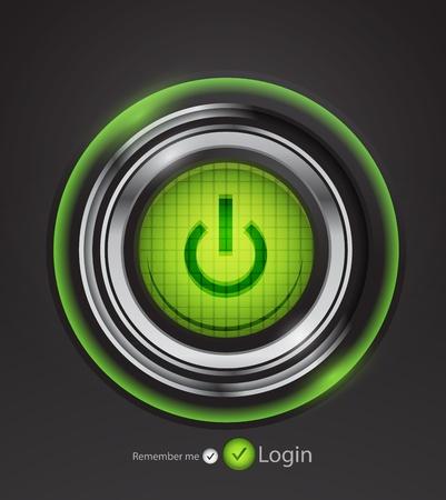 futuristisch uit-knop Vector Illustratie