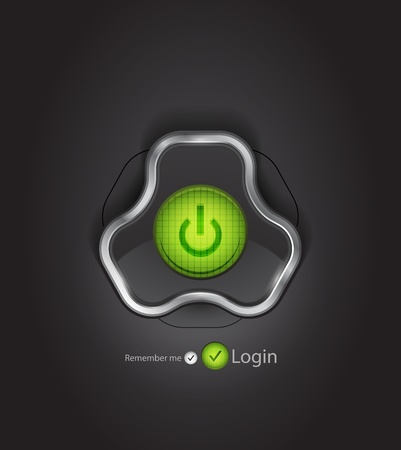 Vector futuristic login page photo