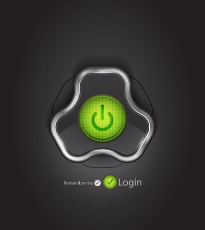 Vector futuristic login page photo