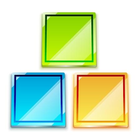 Glossy bright color button set Stock Photo - 12501861