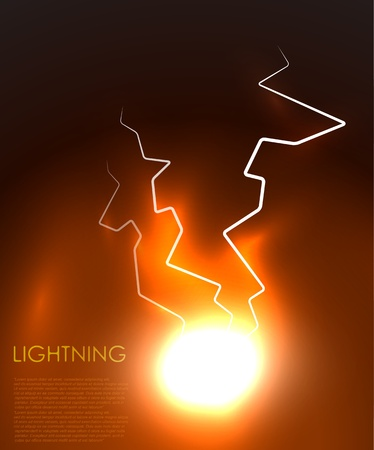 fireball: abstract lighning background