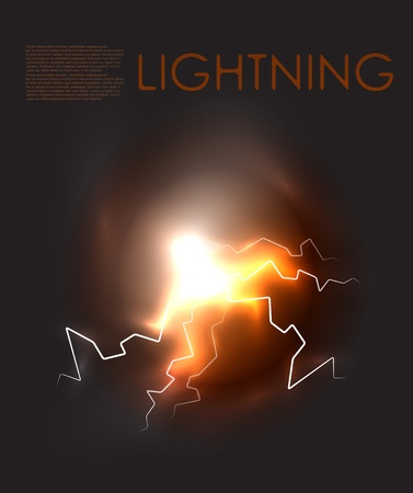striking: abstract lighning background