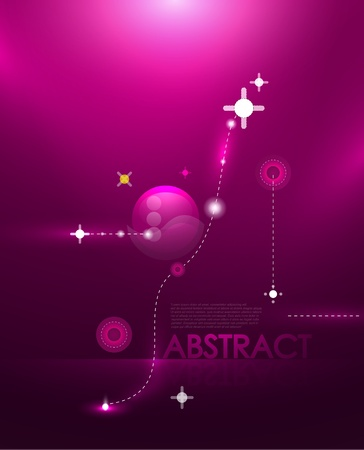 Abstract cosmic compostion Vector
